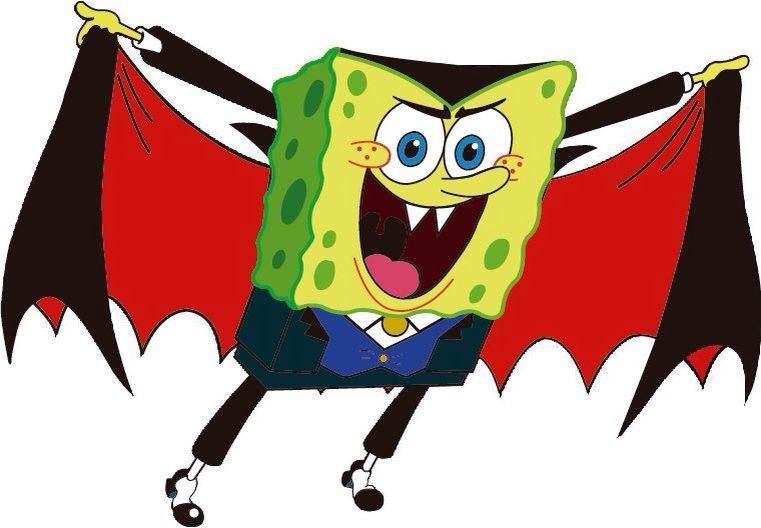spongebob halloween clipart at