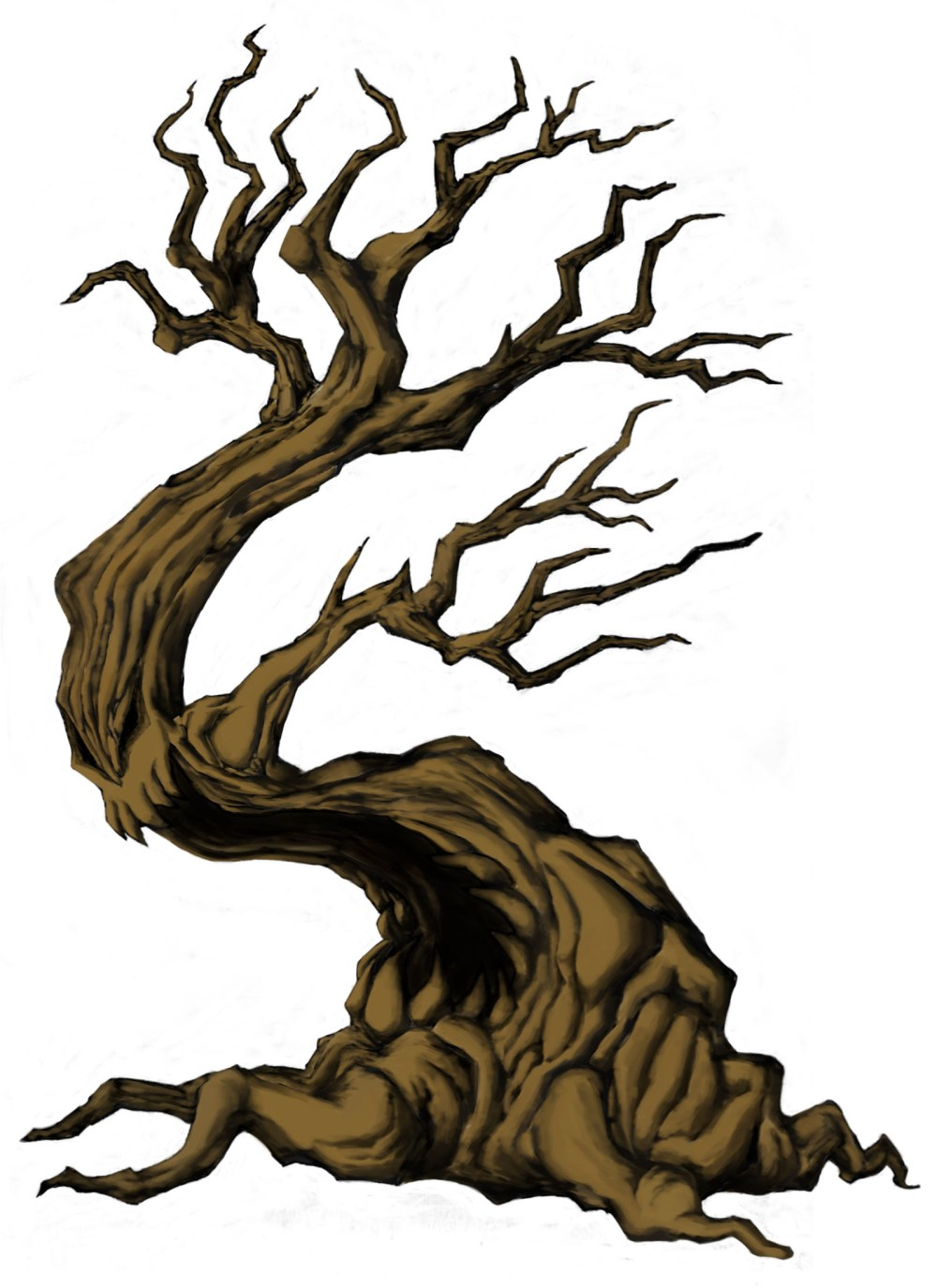 medium resolution of 1600x2200 creepy tree drawing spooky clipart branch