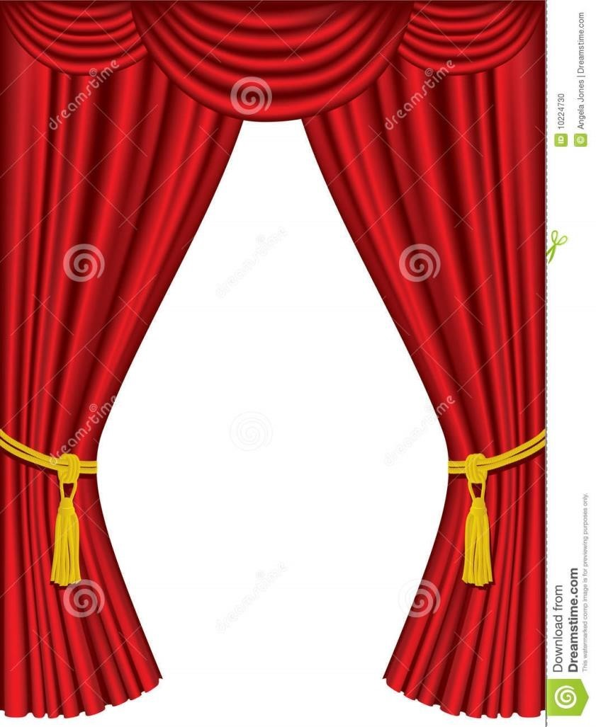 hight resolution of 841x1027 blue stage curtains clipart cool green fabric curtain with gold