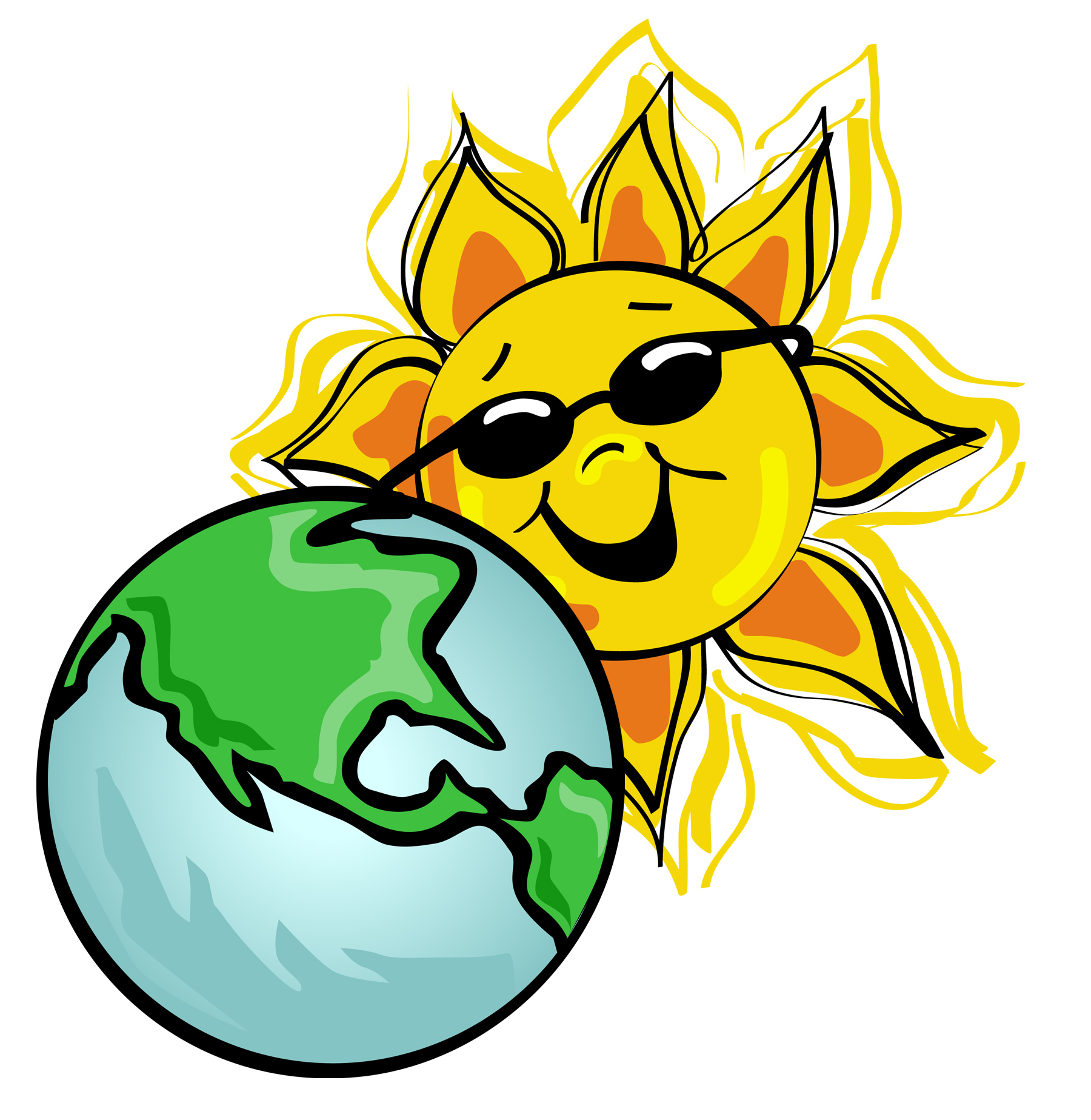 hight resolution of 1800x1847 earth and sun clipart
