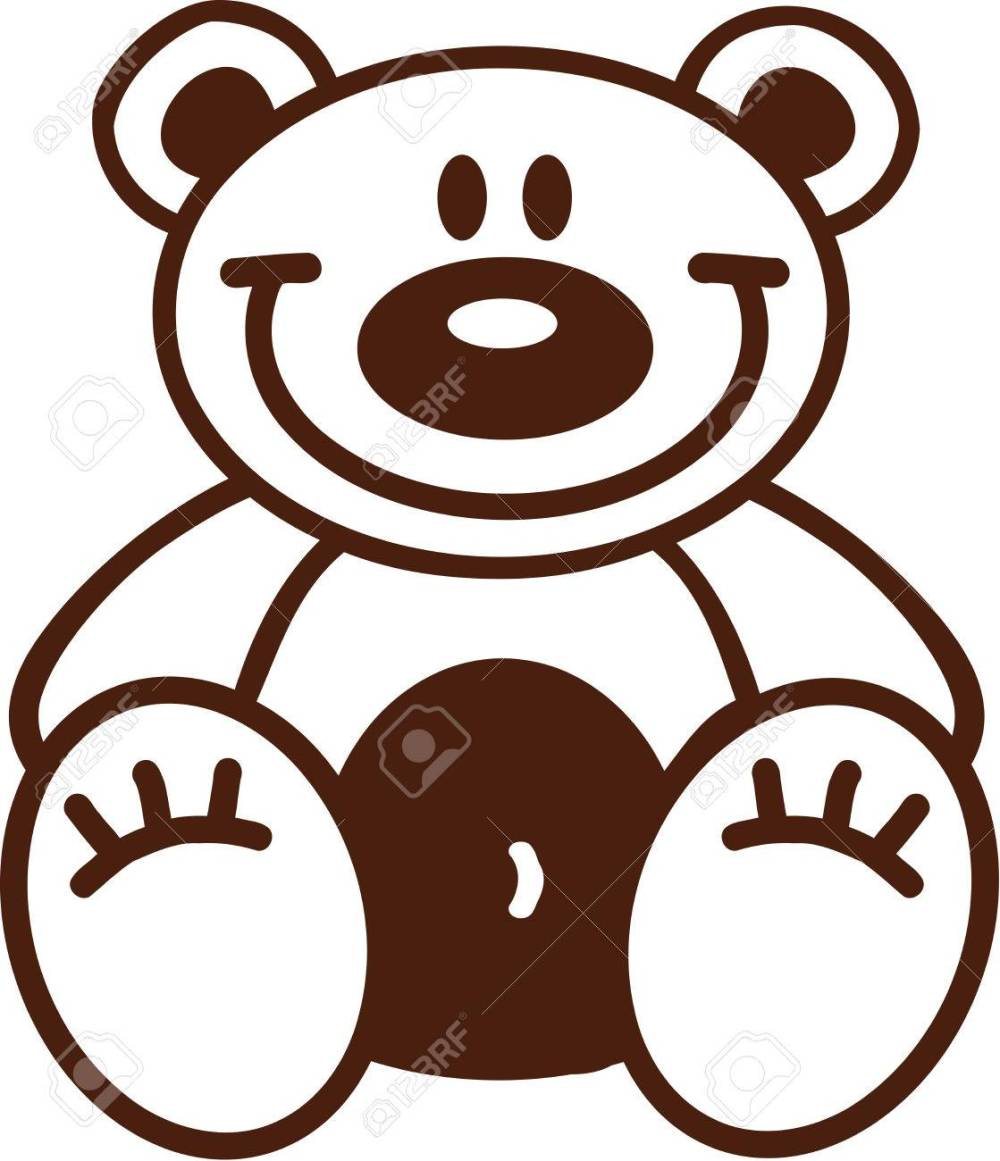 medium resolution of 1119x1300 astonishing outline of a teddy bear clipart pa