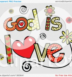 1080x1024 clipart of colorful sketched god is love word art [ 1080 x 1024 Pixel ]