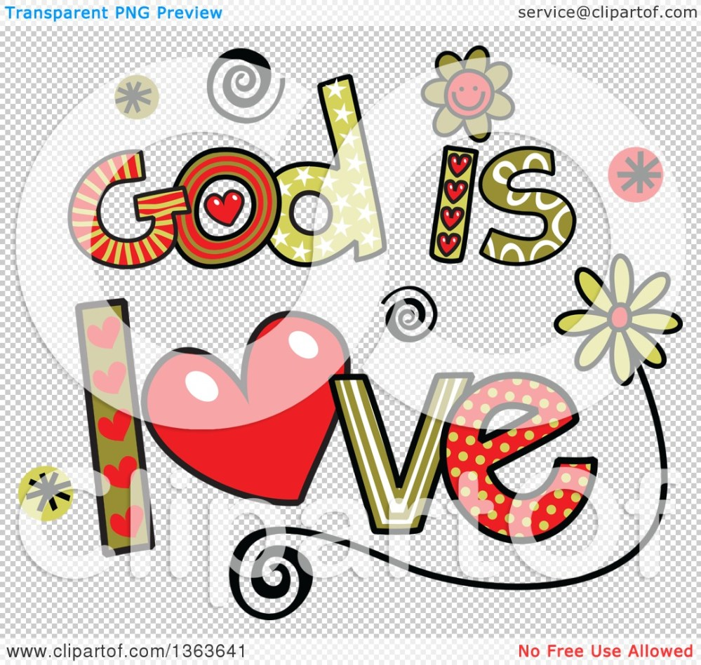 medium resolution of 1080x1024 clipart of colorful sketched god is love word art
