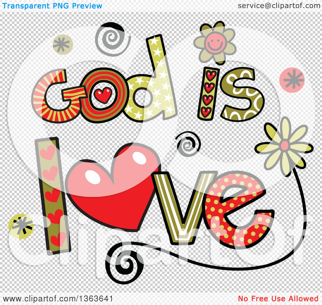 hight resolution of 1080x1024 clipart of colorful sketched god is love word art