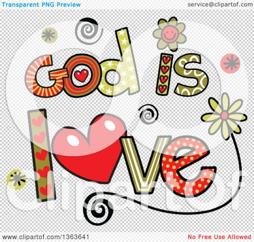 small resolution of 1080x1024 clipart of colorful sketched god is love word art