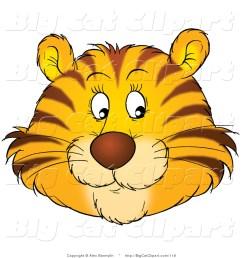 1024x1044 big cat clipart of a happy tiger face by alex bannykh [ 1024 x 1044 Pixel ]