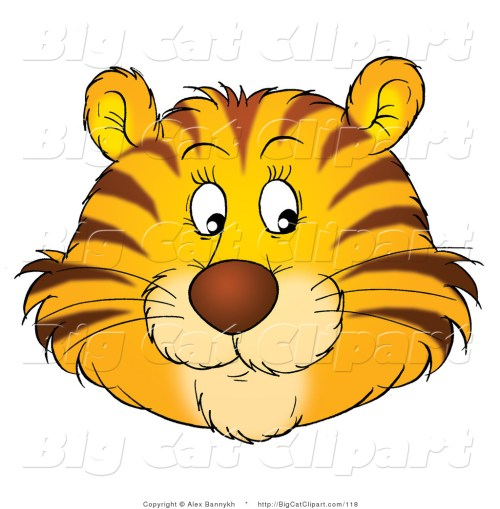 small resolution of 1024x1044 big cat clipart of a happy tiger face by alex bannykh