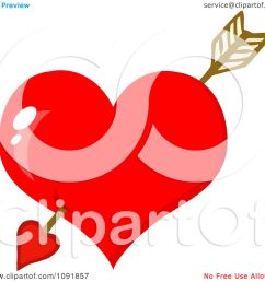 1080x1024 clipart cupids arrow through a shiny red valentine heart [ 1080 x 1024 Pixel ]