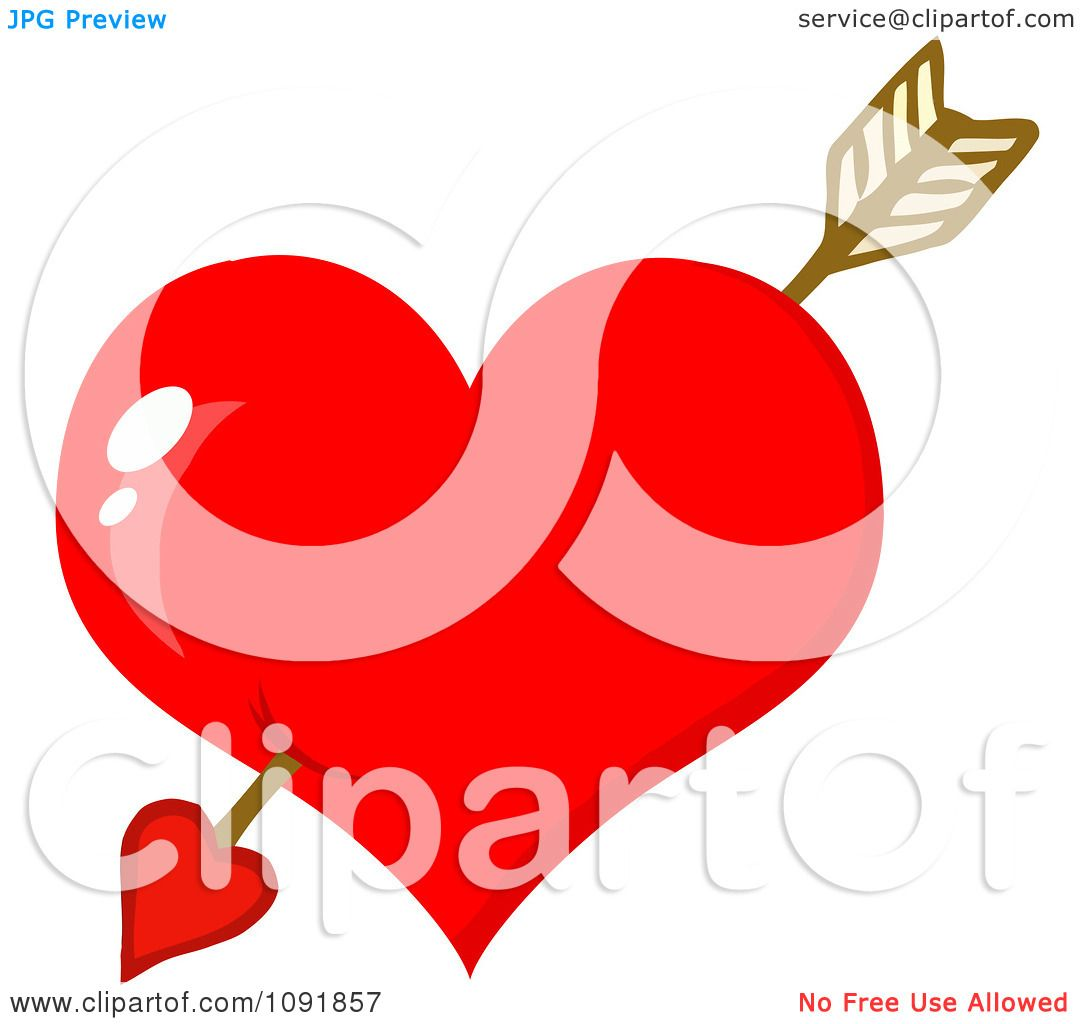 hight resolution of 1080x1024 clipart cupids arrow through a shiny red valentine heart