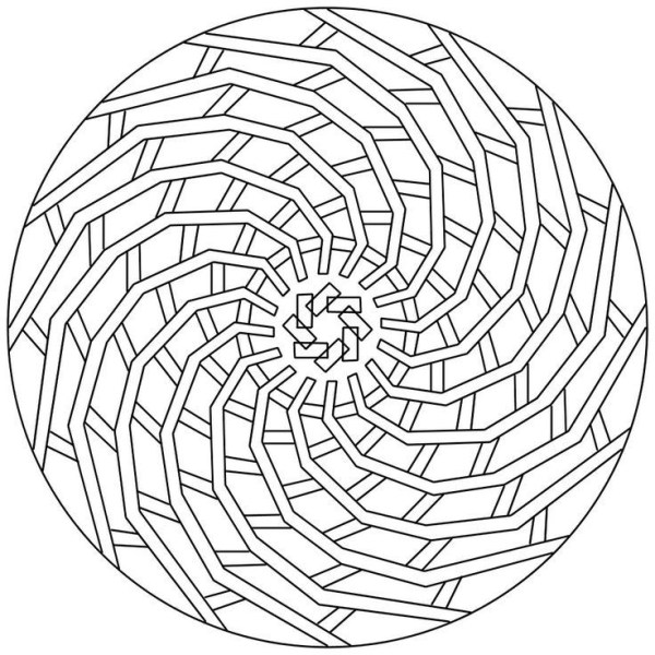 geometric coloring page # 38