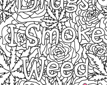 The best free Stoner coloring page images. Download from