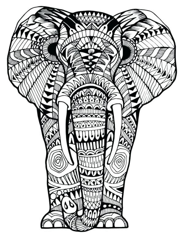 coloring pages elephant # 68