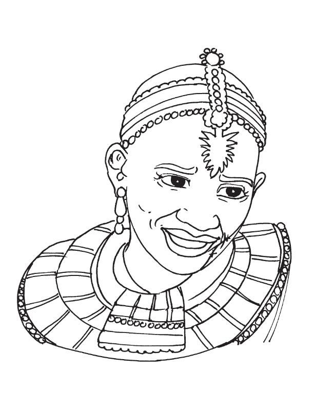 African Coloring Sheets Novocom Top