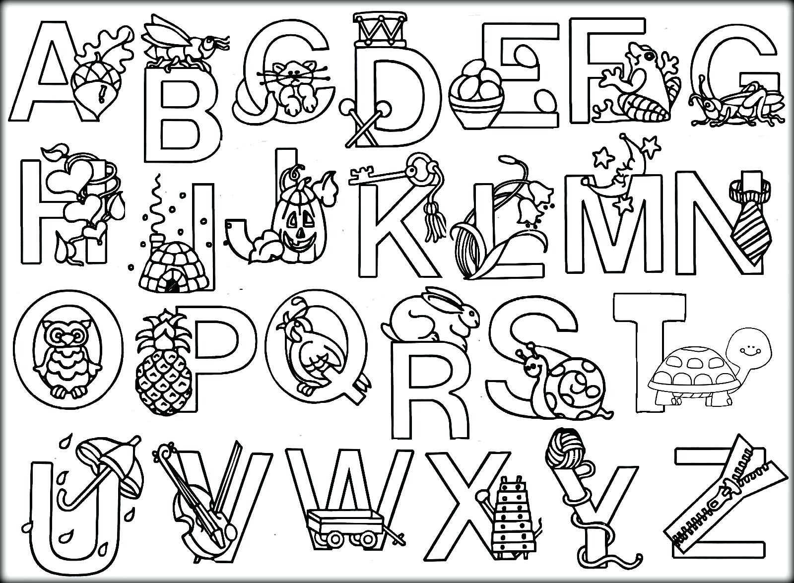 Alphabet Adult Coloring Pages At Getdrawings