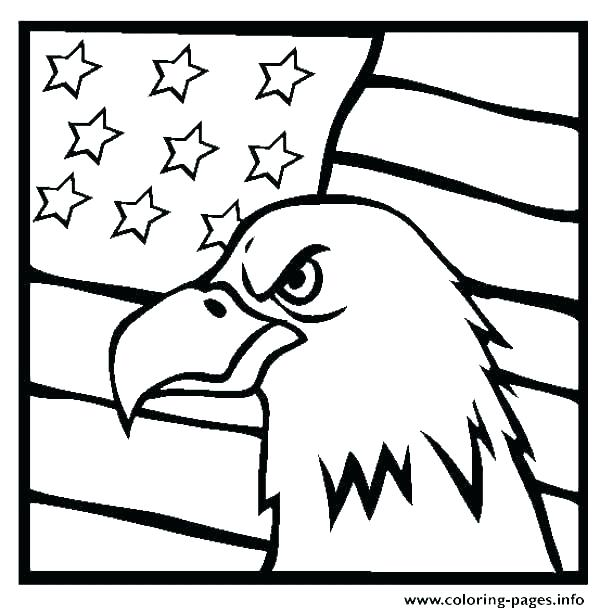American Flag Coloring Page For Preschool at GetDrawings
