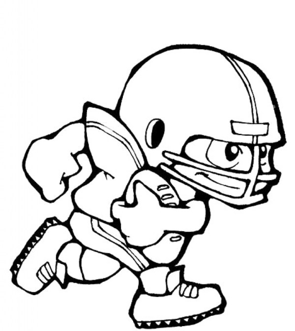 football player coloring page # 19