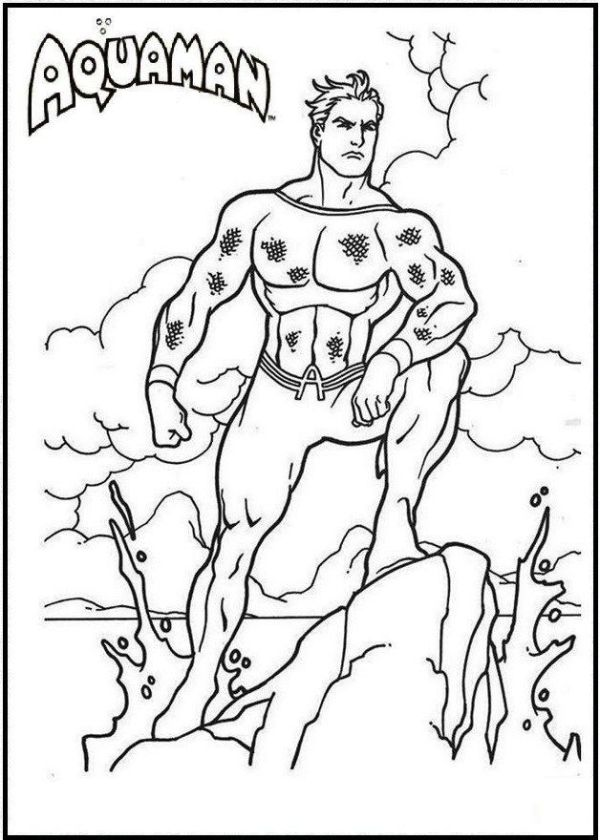 aquaman coloring pages # 40