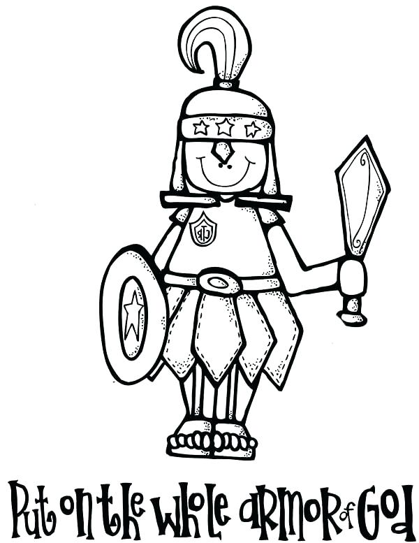 armor of god coloring page # 33