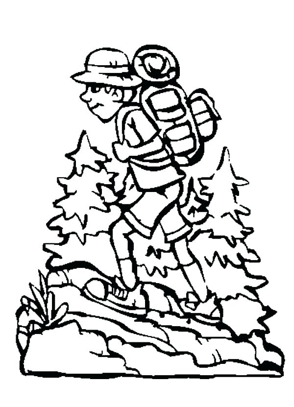 The best free Backpack coloring page images. Download from