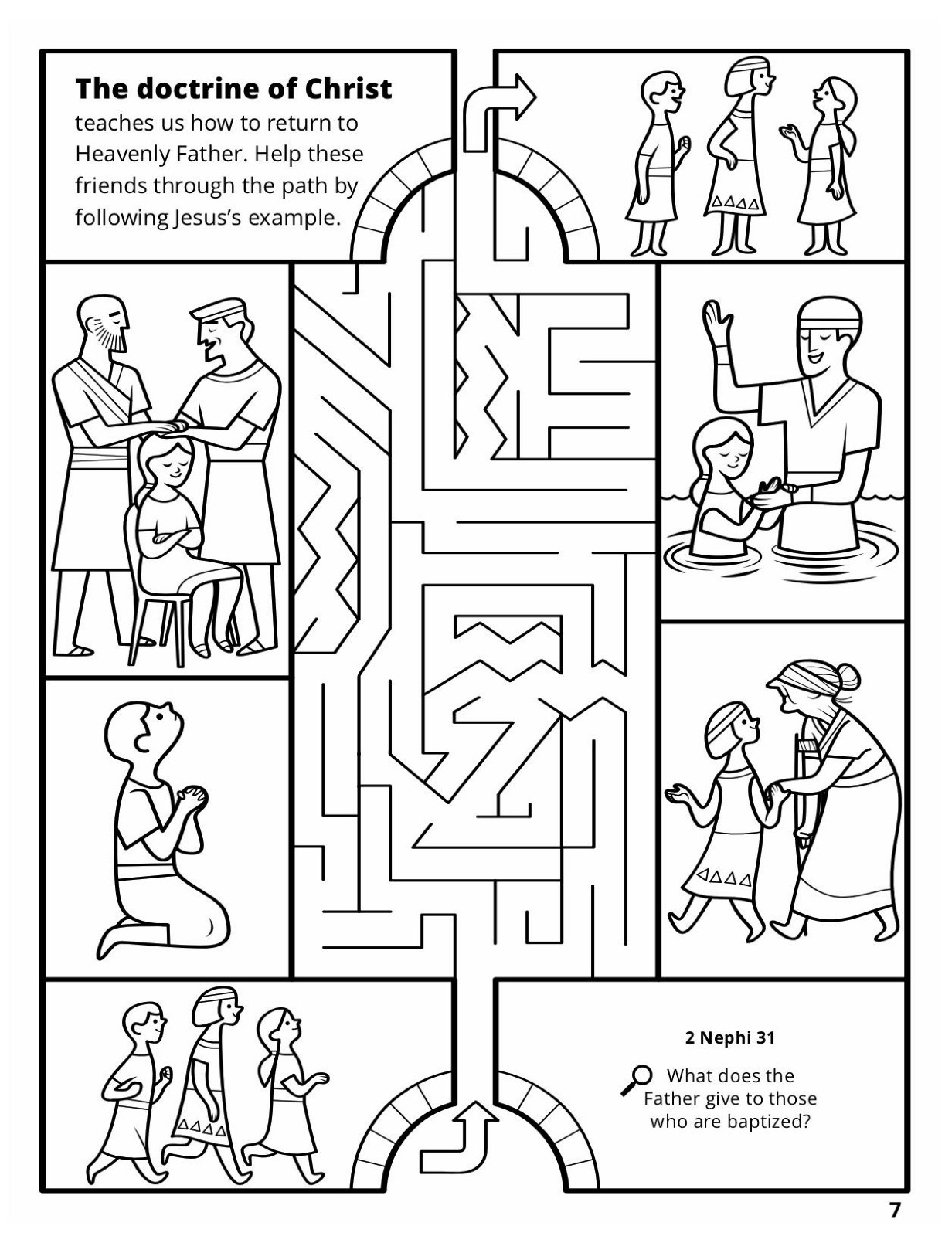 Baptism Coloring Pages At Getdrawings
