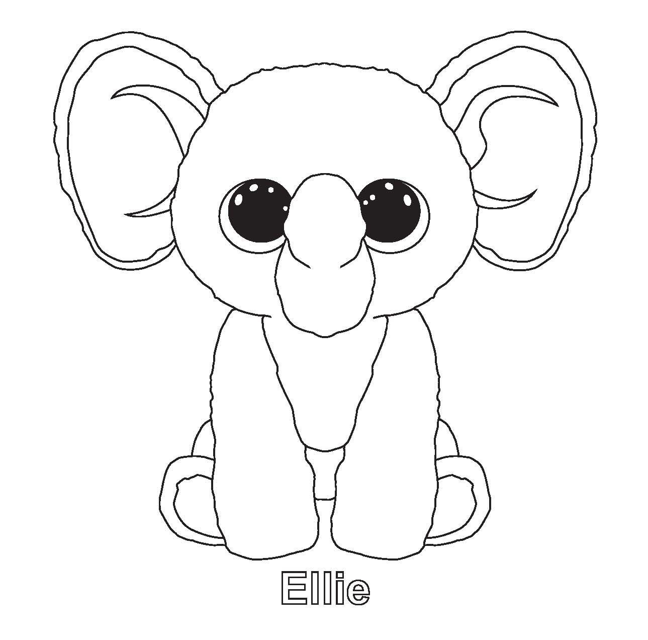 Print Moonlight Beanie Boo Coloring Pages Beanie Boo – Cute766