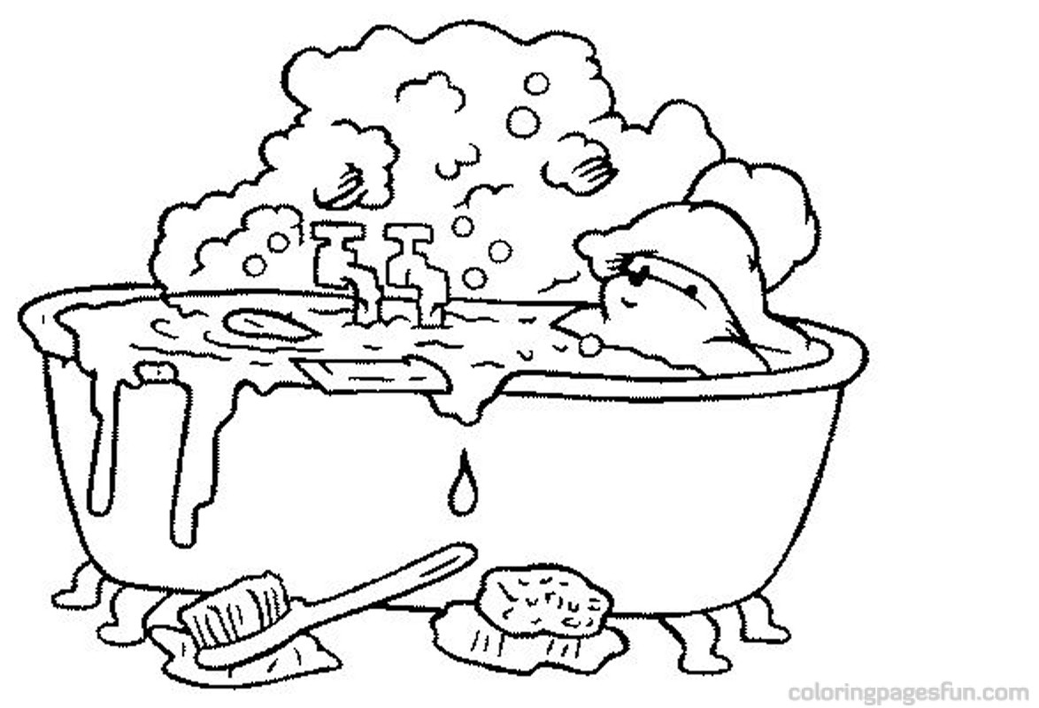 Bubble Bath Coloring Pages At Getdrawings