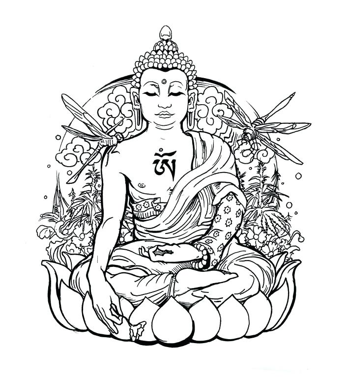 Buddha Head Silhouette at GetDrawings Free download