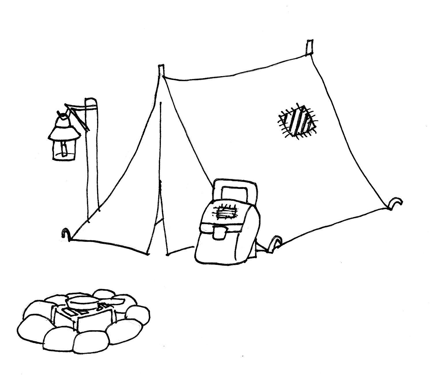 Camping Tent Coloring Page At Getdrawings