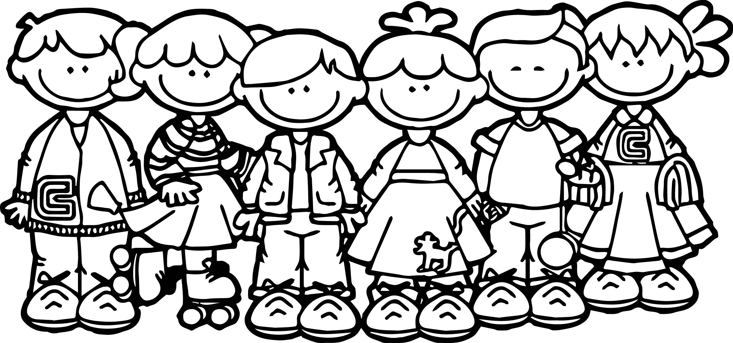 Children Playing Coloring Pages At Getdrawings