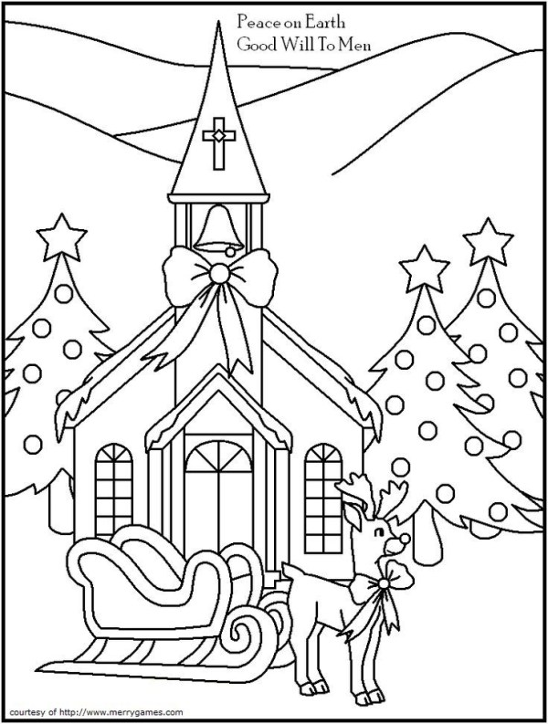 religious christmas coloring pages # 23