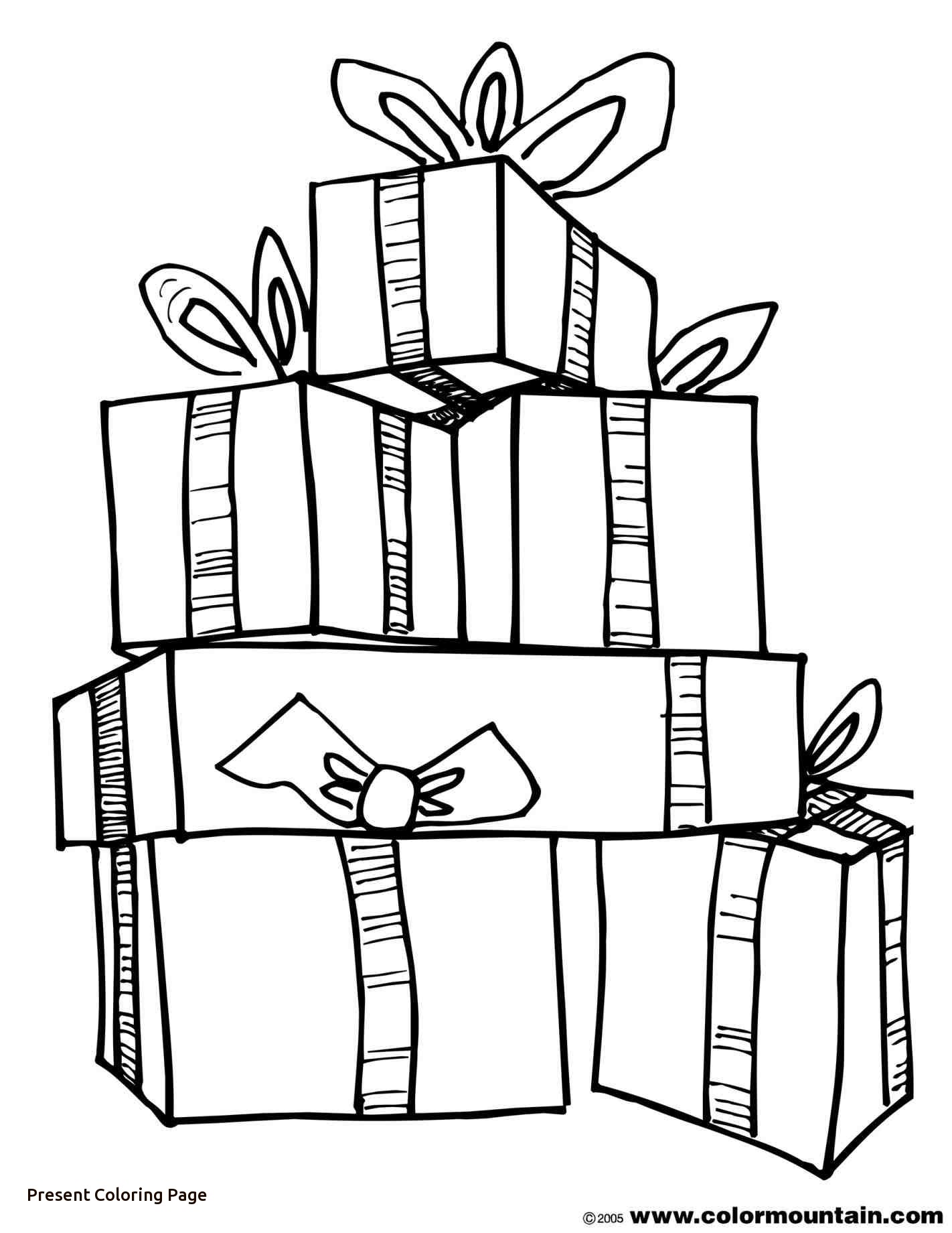 Christmas Present Printable Coloring Pages At Getdrawings