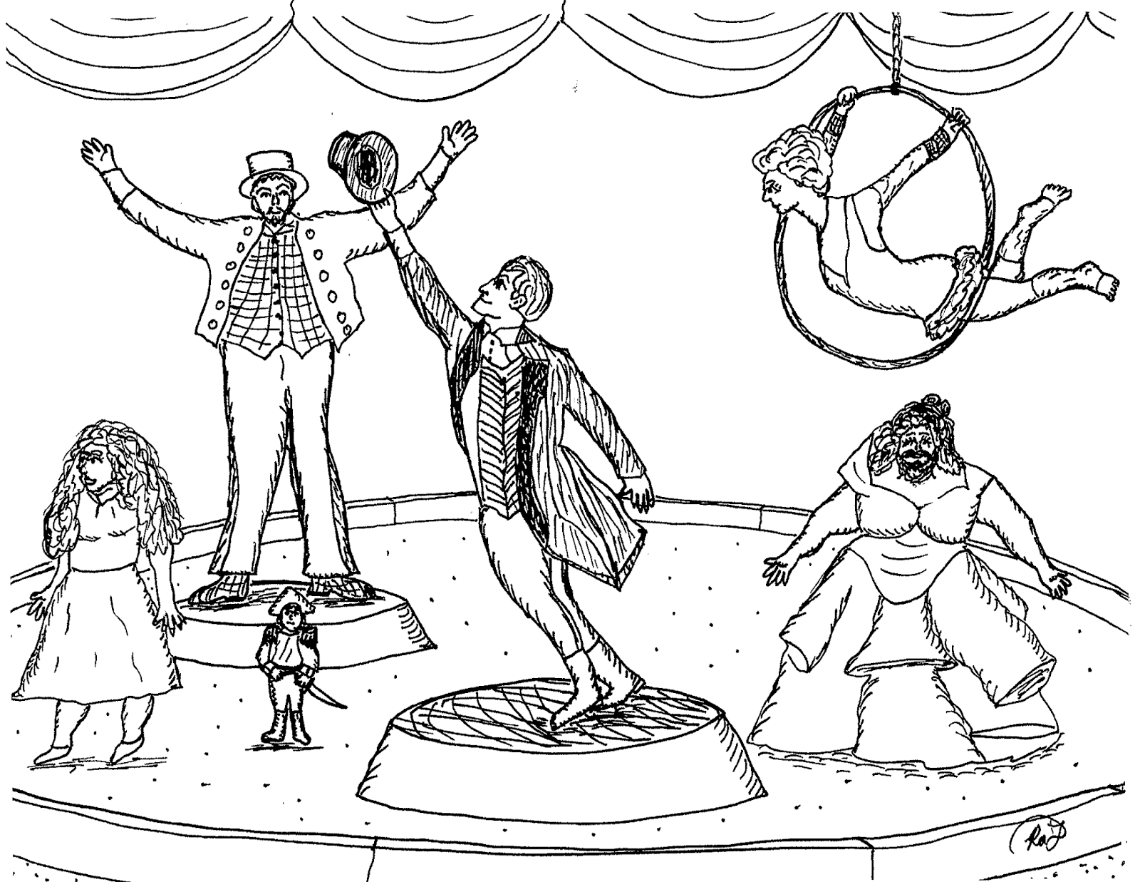 Circus Ringmaster Coloring Pages At Getdrawings