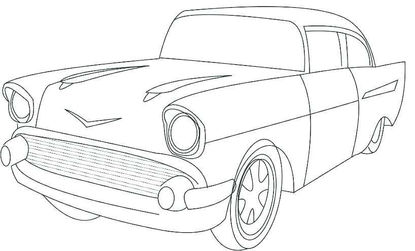 The best free Classic car coloring page images. Download