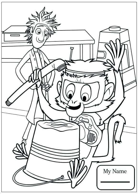 cloudy with a chance of meatballs coloring pages # 31