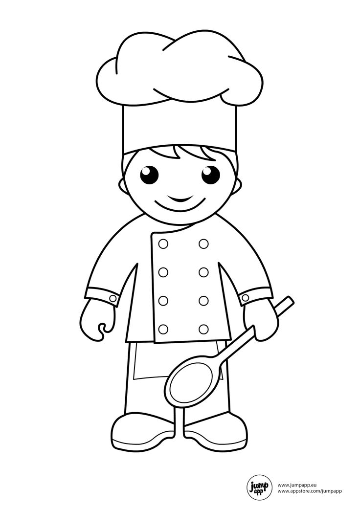 coloring page chef at getdrawings  free download