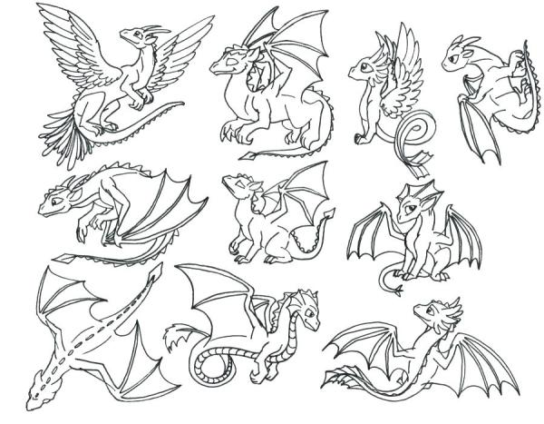baby dragon coloring pages # 22