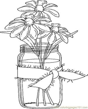 coloring pages adults jar elderly seniors daisies dementia printable adult flower easy colouring mason sheets books older flowers crafts embroidery