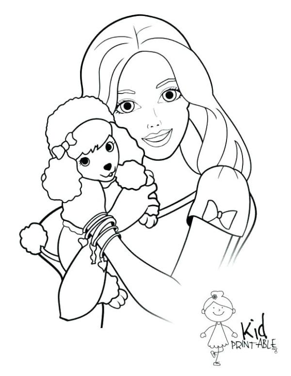 barbie coloring pages free # 31