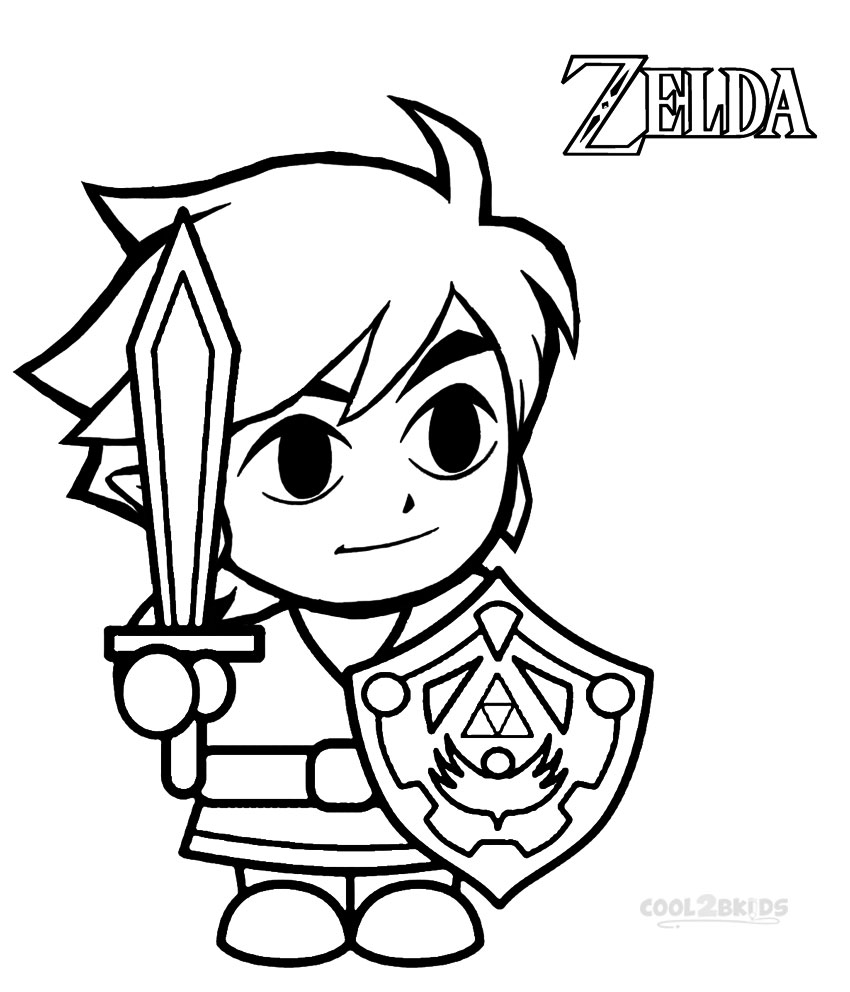The Legend Of Zelda Coloring Pages Free at GetDrawings