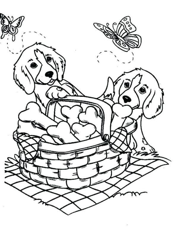 coloring pages dog # 61