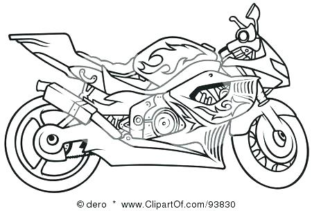 Coloring Pages Of Harley Davidson Motorcycles at
