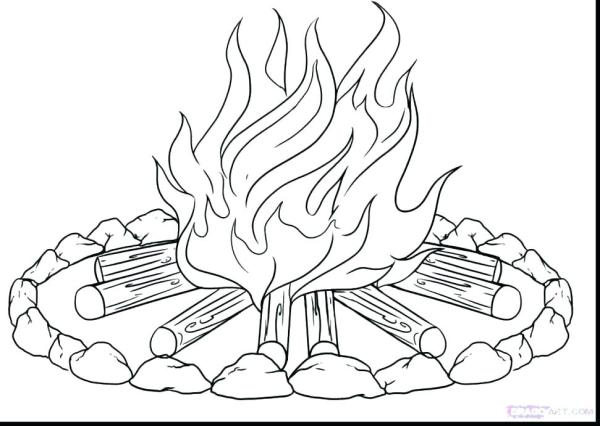 flames coloring pages # 42