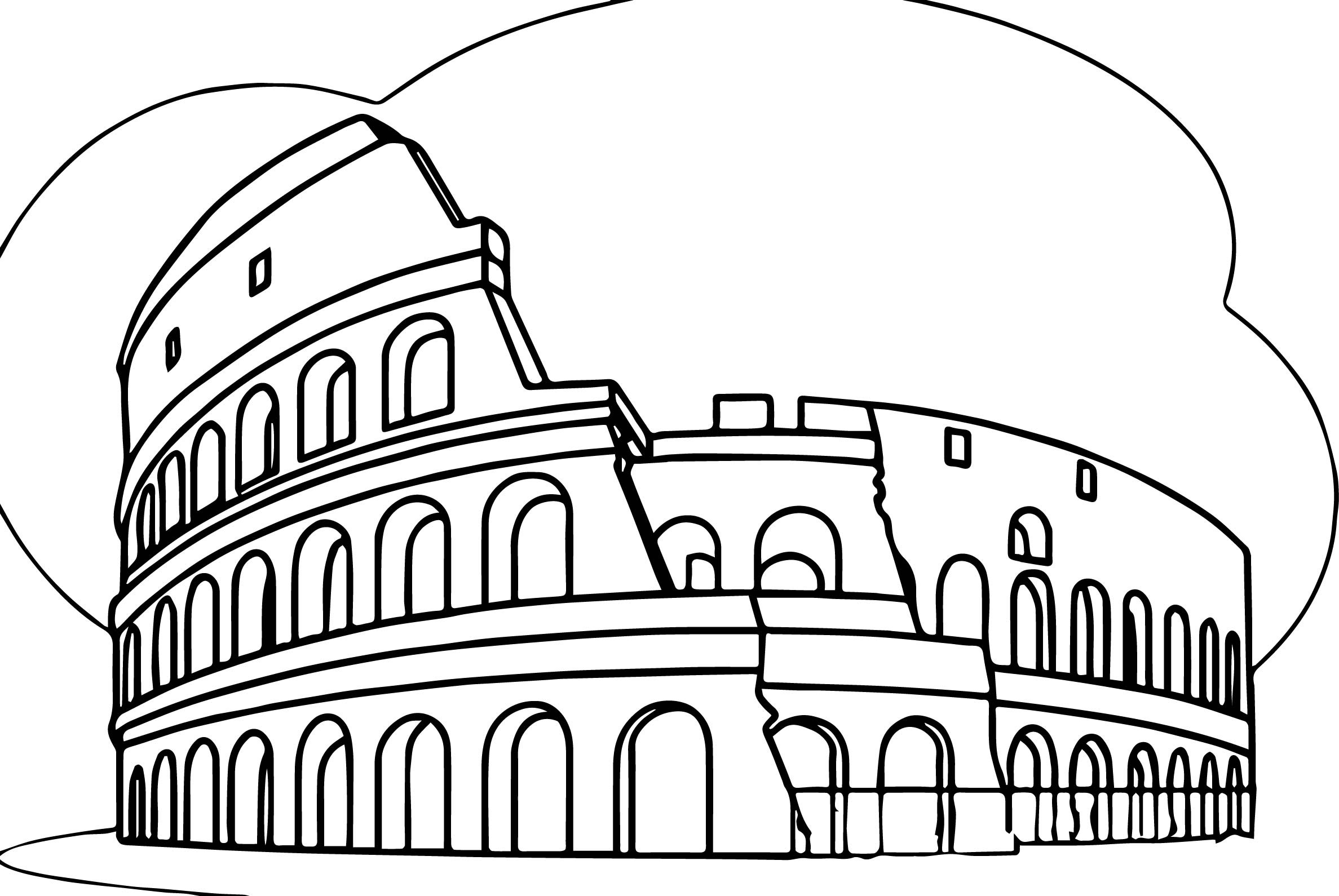 Colosseum Coloring Page At Getdrawings