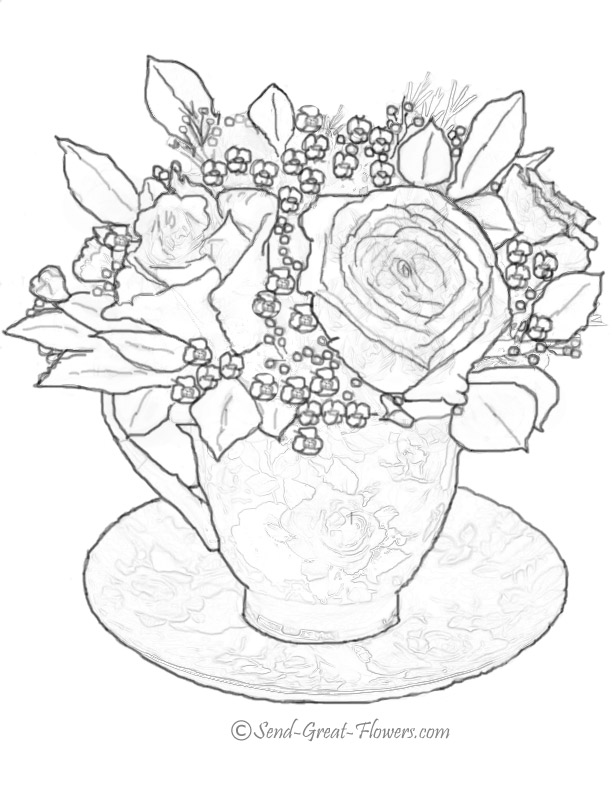 cup coloring page at getdrawings  free download