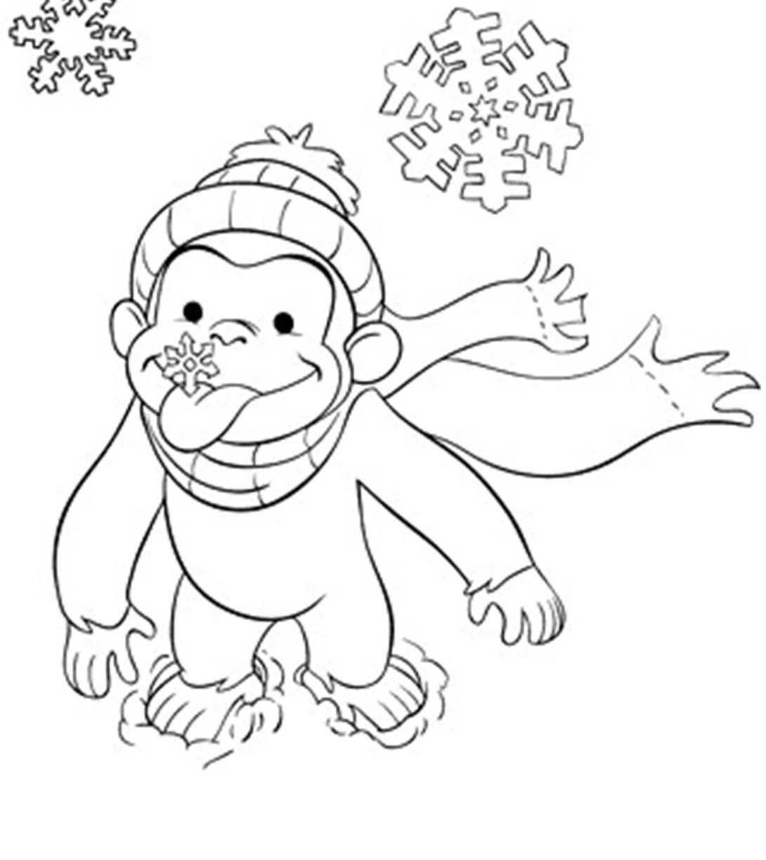 Curious George Christmas Coloring Pages At Getdrawings