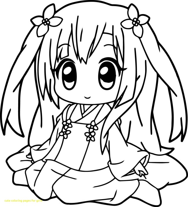 Kawaii Girl Coloring Pages – iconmaker.info