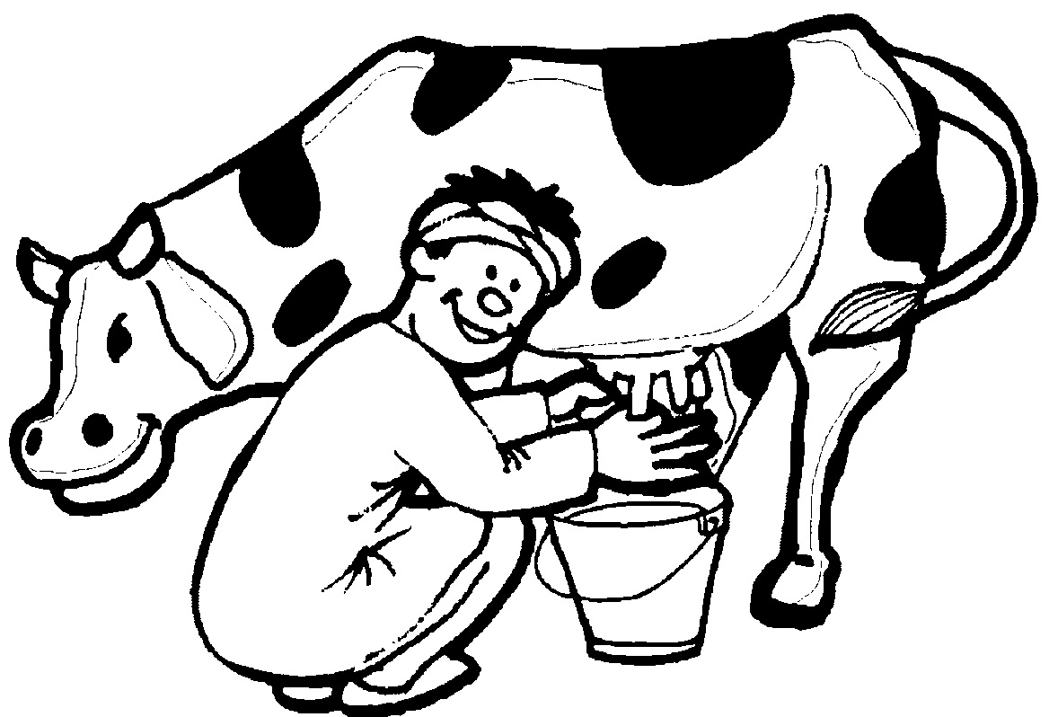 Dairy Cow Coloring Pages At Getdrawings