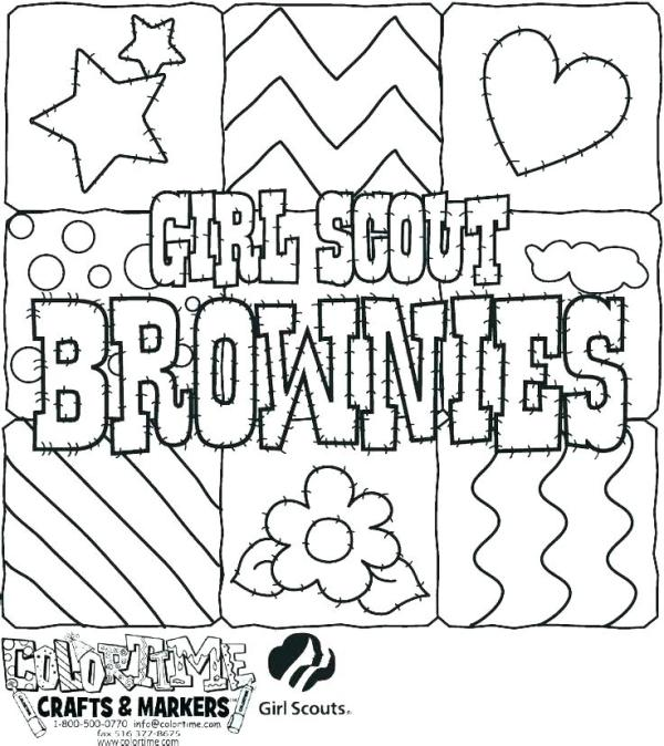 girl scout promise coloring page # 22