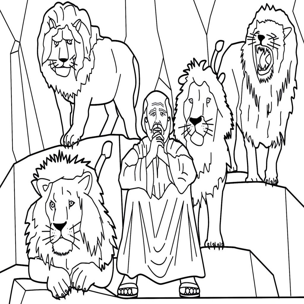 Daniel In The Lions Den Coloring Page At Getdrawings