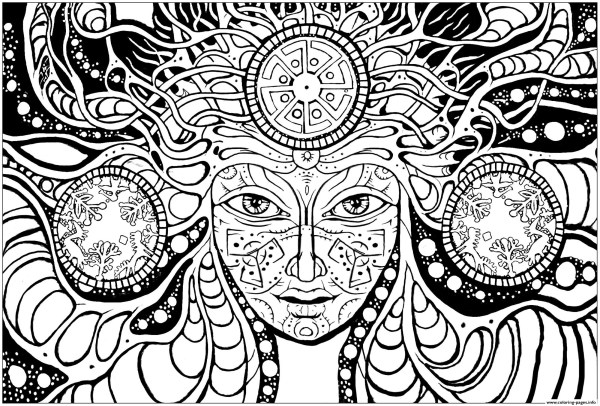 difficult coloring pages for adults # 50